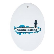 Sanibel Island - Surf Design. Ornament (Oval)