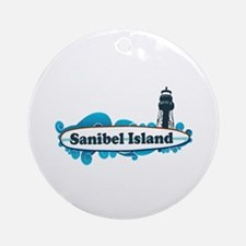 Sanibel Island - Surf Design. Ornament (Round)