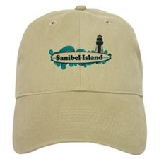 Sanibel Island - Surf Design. Baseball Cap