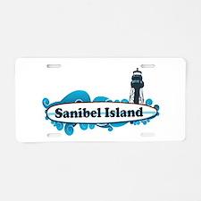 Sanibel Island - Surf Design. Aluminum License Pla