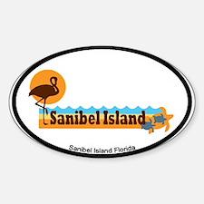 Sanibel Island - Beach Design. Sticker (Oval)