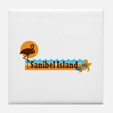 Sanibel Island - Beach Design. Tile Coaster