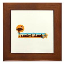 Sanibel Island - Beach Design. Framed Tile
