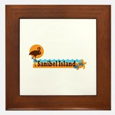 Sanibel Island - Beach Design. Framed Tile