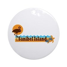 Sanibel Island - Beach Design. Ornament (Round)