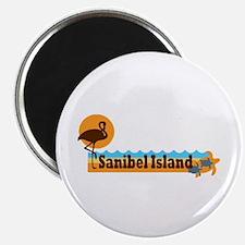 Sanibel Island - Beach Design. Magnet