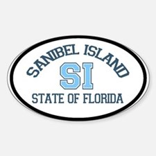 Sanibel Island - Oval Design. Decal