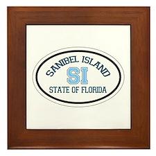 Sanibel Island - Oval Design. Framed Tile