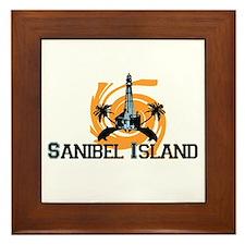 Sanibel Island - Lighthouse Design. Framed Tile