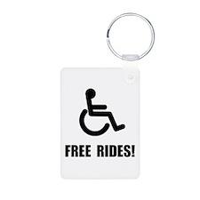 Handicap Free Rides Keychains