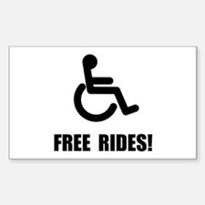 Handicap Free Rides Sticker (Rectangle 10 pk)
