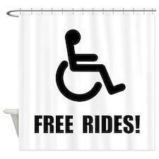 Handicap Free Rides Shower Curtain