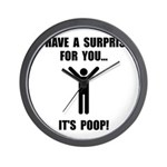 Its Poop Wall Clock