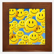 Smiley face symbols - Framed Tile