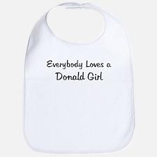 Donald Girl Bib