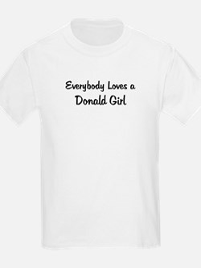 Donald Girl Kids T-Shirt