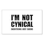 Not Cynical Sticker (Rectangle 50 pk)