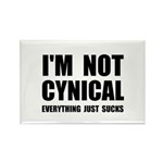 Not Cynical Rectangle Magnet (100 pack)