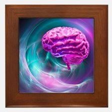Brain research, conceptual artwork - Framed Tile