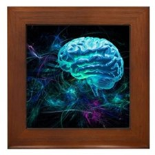 Brain research, conceptual artwork - Framed Tile