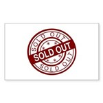 Sold Out Sticker (Rectangle 10 pk)