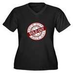 Sold Out Women's Plus Size V-Neck Dark T-Shirt