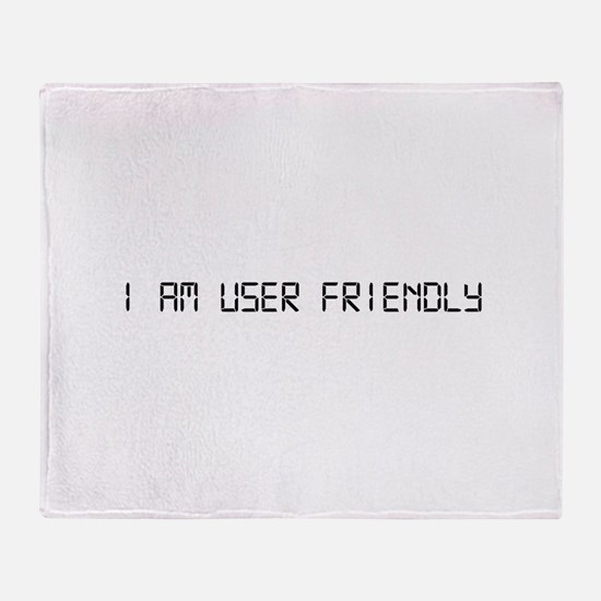 User Friendly Throw Blanket