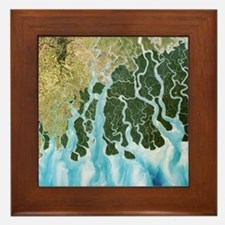 Ganges River delta, India - Framed Tile