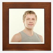 Healthy man - Framed Tile