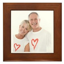 Happy senior couple - Framed Tile