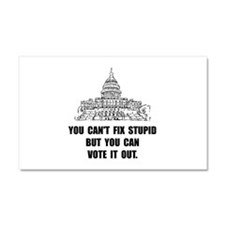Vote Out Stupid Car Magnet 20 x 12