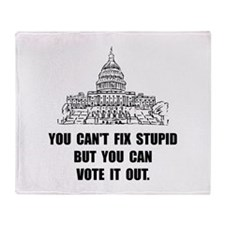 Vote Out Stupid Throw Blanket