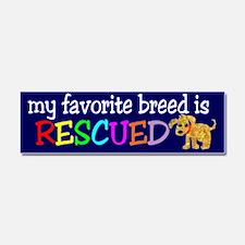 Rescue Dog Car Magnet 10 x 3