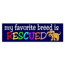 Rescue Dog Bumper Sticker