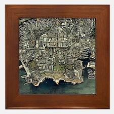 Plymouth, UK, aerial image - Framed Tile