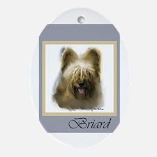 Briard Ornament (Oval)