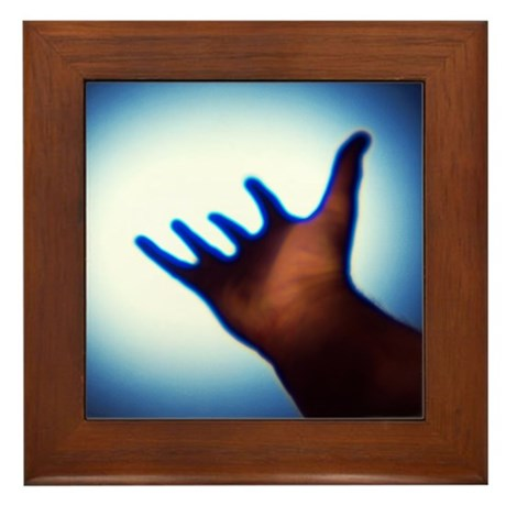 Reaching out, conceptual image - Framed Tile