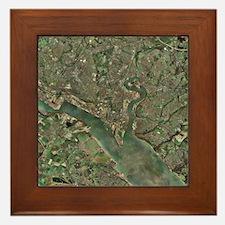 Southampton, UK, aerial photograph - Framed Tile