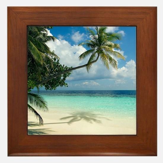 Tropical beach - Framed Tile