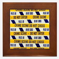 Crime scene tape - Framed Tile
