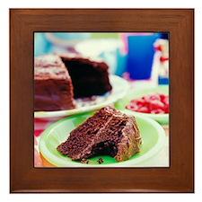 Chocolate cake - Framed Tile
