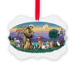 St. Fran (Ov)-Dogs-Cats-Hrs Picture Ornament