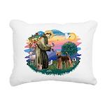 St Francis #2/ Airedale Rectangular Canvas Pillow