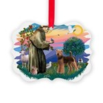 St Francis #2/ Airedale Picture Ornament