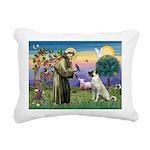 SAINT FRANCIS Rectangular Canvas Pillow