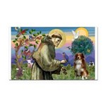 St Francis/ Aus Shep Rectangle Car Magnet