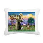 St Francis/Aussie (#5) Rectangular Canvas Pillow