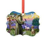 St Francis/Aussie (#5) Picture Ornament