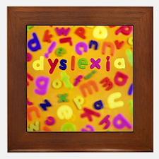 Dyslexia - Framed Tile