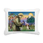 St Francis/Beagle Rectangular Canvas Pillow